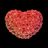 Kwiatu serce Obraz Stock