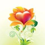 kwiatu serce Zdjęcie Stock
