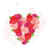 kwiatu serce Obraz Royalty Free