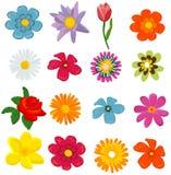 kwiatu set Zdjęcie Stock