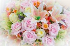 Kwiatu set dla poślubiać jest pięknym koloru kwitnieniem Fotografia Stock