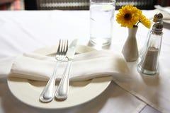kwiatu setu stół Fotografia Royalty Free