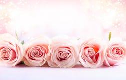 Kwiatu skład z różami obrazy stock