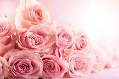 Kwiatu skład z różami zdjęcia royalty free