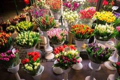 Kwiatu sklep przy nocą Fotografia Royalty Free