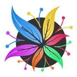Kwiatu sklepu loga szablon Obrazy Stock