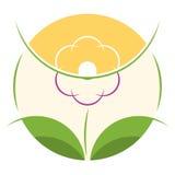 Kwiatu sklepu loga szablon Zdjęcia Stock