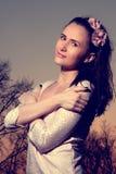 kwiatu smokingowy światło - różowa kobieta Obrazy Stock
