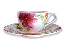 Kwiatu spodeczek & filiżanka Fotografia Royalty Free
