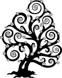 kwiatu sylwetki stylizowany drzewo ilustracja wektor