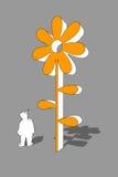 kwiatu szablon Fotografia Stock