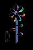 kwiatu szablon Zdjęcia Stock