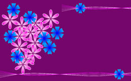 Kwiatu tło z miejscem dla teksta Zdjęcie Stock