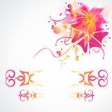 Kwiatu wektorowy tło z dekoracyjnymi ramami Fotografia Stock