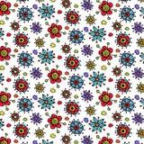 Kwiatu wektoru wzór Zdjęcia Stock