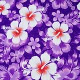 kwiatu wzór na tkaninie Fotografia Royalty Free