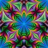 Kwiatu wzór w fractal projekcie Grafika dla kreatywnie projekta, a royalty ilustracja