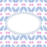 Kwiatu wzór z rocznik ramą Zdjęcia Royalty Free
