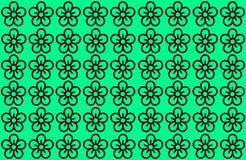 Kwiatu wzór z Zielonym tłem Płatki Projektują rozszerzanie się nad jasnym tłem Używa artykuły, druk, ilustracja, tło royalty ilustracja