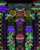Kwiatu wzór zaświeca dekorację Obraz Stock