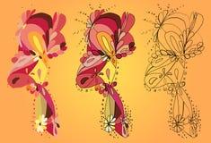 Kwiatu wzoru abstrakt Fotografia Stock