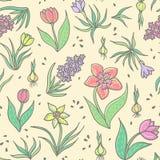 kwiatu wzoru bezszwowa wiosna Zdjęcie Royalty Free