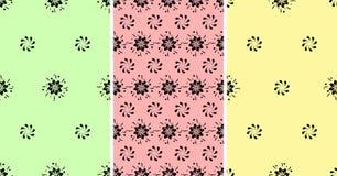 Kwiatu wzoru Bezszwowy set mody tła projekt Obraz Royalty Free
