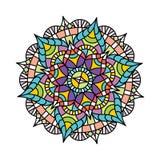 Kwiatu wzoru ind logo ikony wektor royalty ilustracja