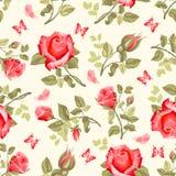 kwiatu wzoru retro róże bezszwowe Obraz Royalty Free