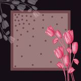 Kwiatu wzoru szalika projekta mody jedwabnicza tkanina ilustracja wektor