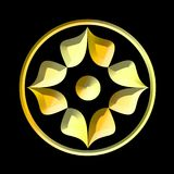 Kwiatu złoto w okręgu ilustracji