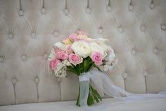 kwiaty ślubnych bukietów poślubić Romantyczny kwitnący wystrój, decorat Fotografia Stock