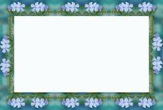 kwiaty 2 niebieska rama ilustracji