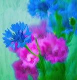 Kwiaty abstrakcjonistycznego tła składu daemon ciemna cyfrowa fantazi potwora obrazu kwadrata tematu błyszczka Obrazy Royalty Free