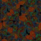 Kwiaty batik Abstrakcjonistyczna tapeta z kwiecistymi motywami t?a sk?adu powoju kwiatu tulipany bia?y Bezszwowy t?o royalty ilustracja
