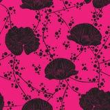 kwiaty bezszwowego tło Zdjęcie Royalty Free