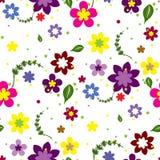 kwiaty bezszwowego tło Obraz Royalty Free