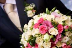 kwiaty boucquet krawat Obrazy Stock
