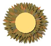 kwiaty camaflage uwaga Fotografia Stock