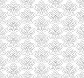Kwiaty, czarny i biały abstrakcjonistyczny bezszwowy wzór. Ilustracja Wektor