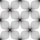 Kwiaty, czarny i biały abstrakcjonistyczny geometryczny bezszwowy patt Royalty Ilustracja