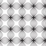Kwiaty, czarny i biały abstrakcjonistyczny geometryczny bezszwowy patt Ilustracji