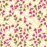 kwiaty deseniują bezszwową ofertę rabatowy bobek opuszczać dębowego faborków szablonu wektor Obrazy Royalty Free