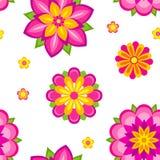 kwiaty deseniują bezszwowego Zdjęcia Royalty Free
