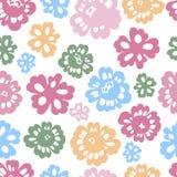 kwiaty deseniują bezszwowy sping Zdjęcie Stock