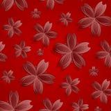 kwiaty deseniują czerwień Zdjęcia Royalty Free
