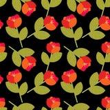 kwiaty deseniują czerwień Obrazy Royalty Free