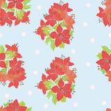 kwiaty deseniują czerwień bezszwową Obrazy Royalty Free