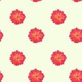 kwiaty deseniują czerwień bezszwową Zdjęcia Royalty Free