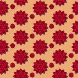kwiaty deseniują czerwień bezszwową Fotografia Royalty Free